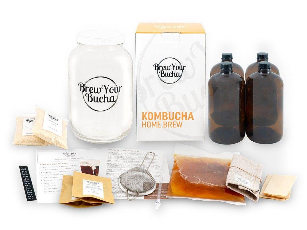 4 Litre Deluxe Home Brew Kombucha Starter Kit Everything