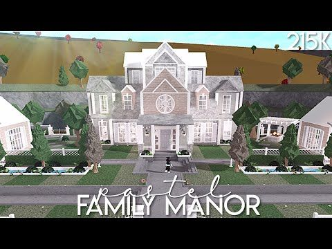 Bloxburg: Pastel Family Manor | Speed Build (With images ...