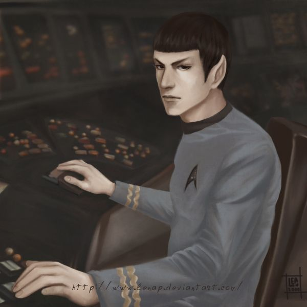 Spock at bridge by Lenap.deviantart.com on @deviantART