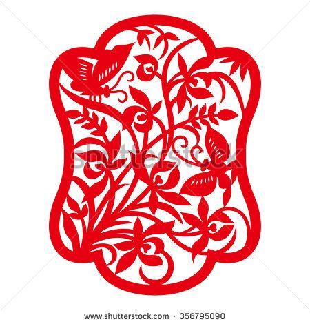 Traditional China Patterns china traditional paper-cut art(orchid pattern) | шаблон