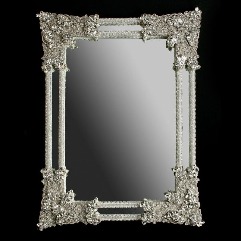 wall mirrors with crystal frames | bb Simon swarovski crystal mirror ...