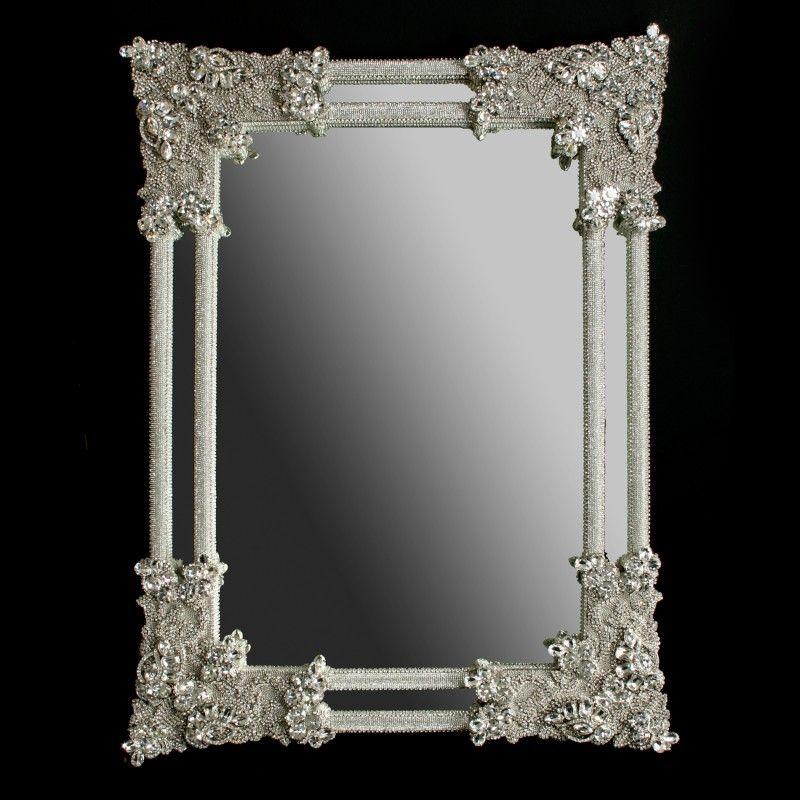 M 401 Clear Bb Simon Modern Rhinestone Mirror Rhinestone Mirror Mirror Frame Diy Swarovski Mirror