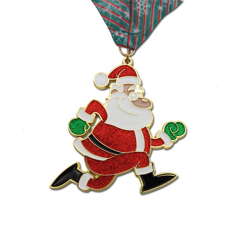 custom shape marathon medals, glitter medals with ribbon