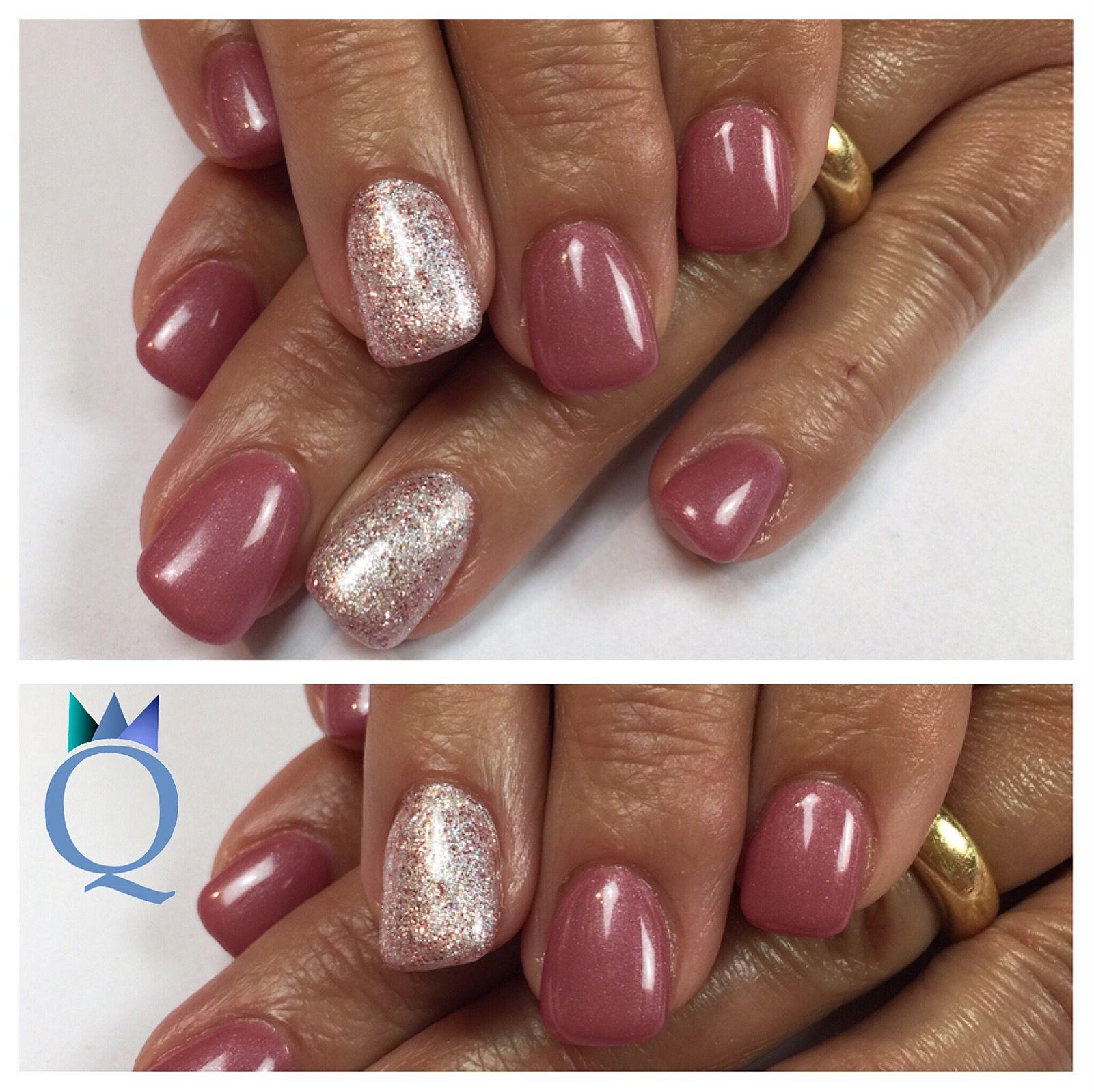 shortnails #gelnails #nails #white #glitter #mauve #kurzenägel ...