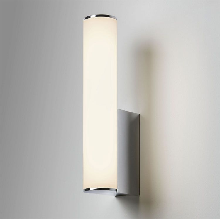 Domino 3 6w 3000k Led Bathroom Wall Light In Polished Chrome Ip44 Astro 7392 Led Tube With Images Bathroom Wall Lights Wall Lights Led Wall Lights