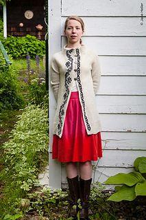 Hardanger Knit Coat - pattern for sale on Ravelry