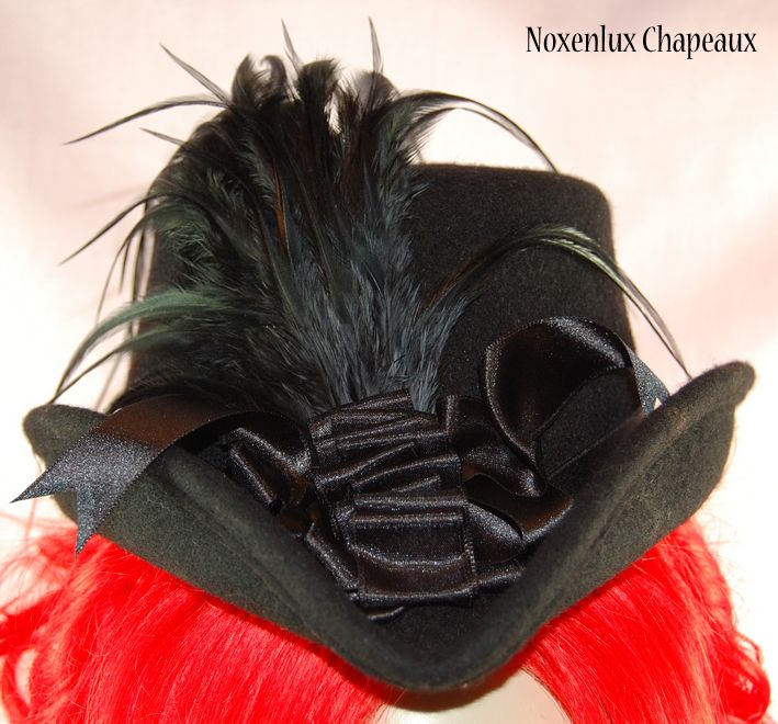 Black Victorian Riding Top Hat - Click Image to Close
