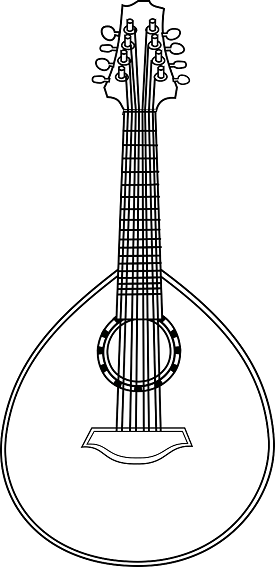 Lute Coloring Page