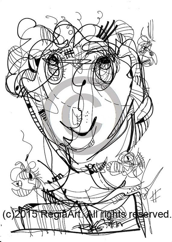 Instant Download Coloring Page Hand Drawn Curious by regiaart | ART ...