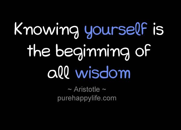 Inspirational Quote Knowing Yourself Is The Beginning Of All Wisdom Inspirational Quotes Wisdom Quotes Great Person Quotes