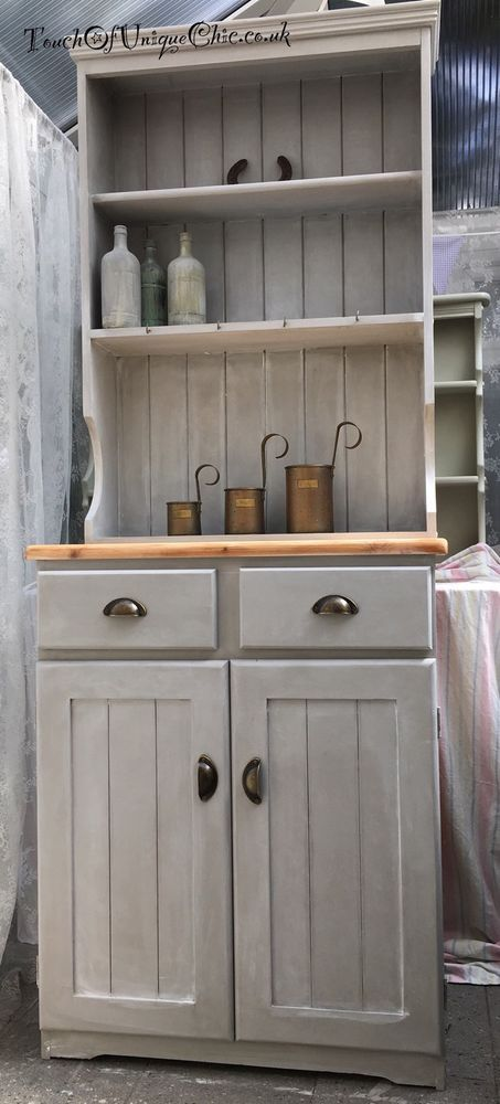 Pine Welsh Dresser Grey Delivery Available