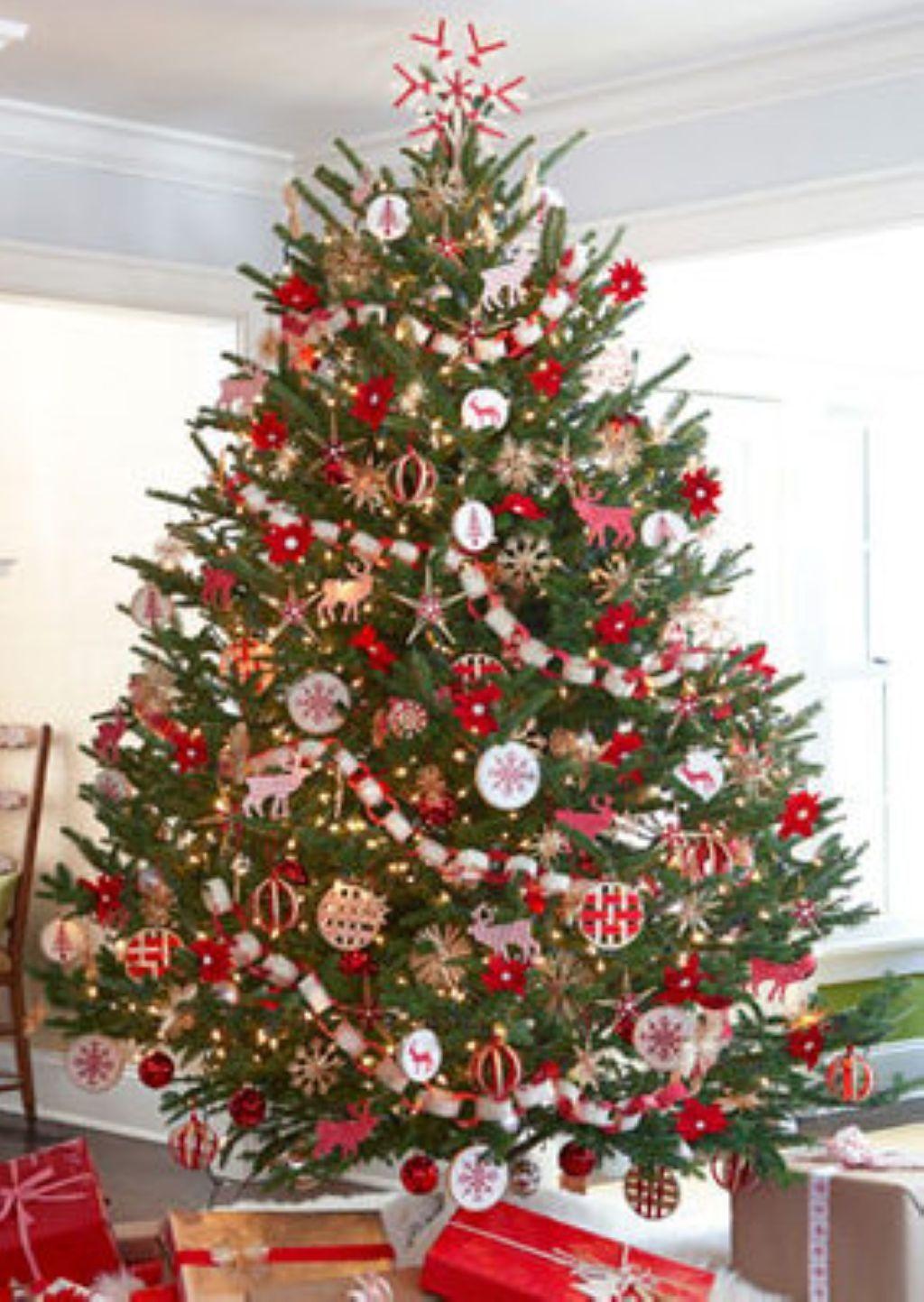 classic christmas tree with ornament glass christmas tree