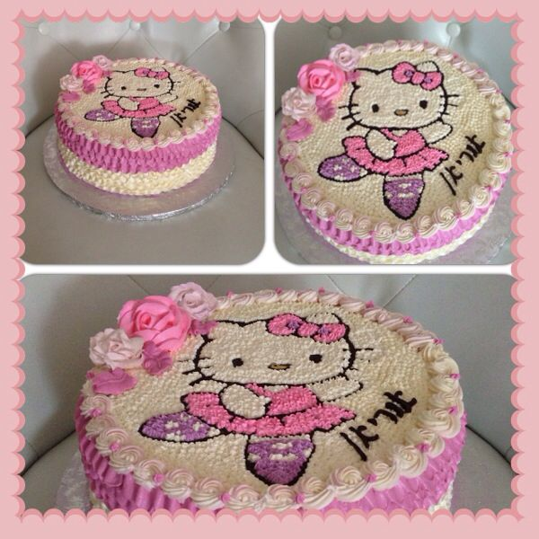 Hello kitty buttercream cake Sweet treats by Ortal Pinterest
