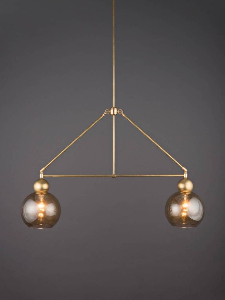 The Double Globe Chandelier The Light Factory Globe Chandelier Industrial Ceiling Lights Modern Dining Room Lighting
