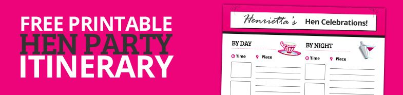 Your Free Hen Party Itinerary Planner Here Http