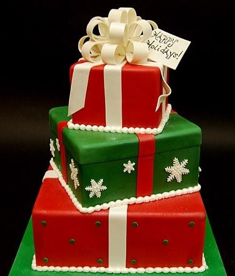 This Was Inspired By Colette Peters Christmas Cake Pictured On The Cover Of American Decorating
