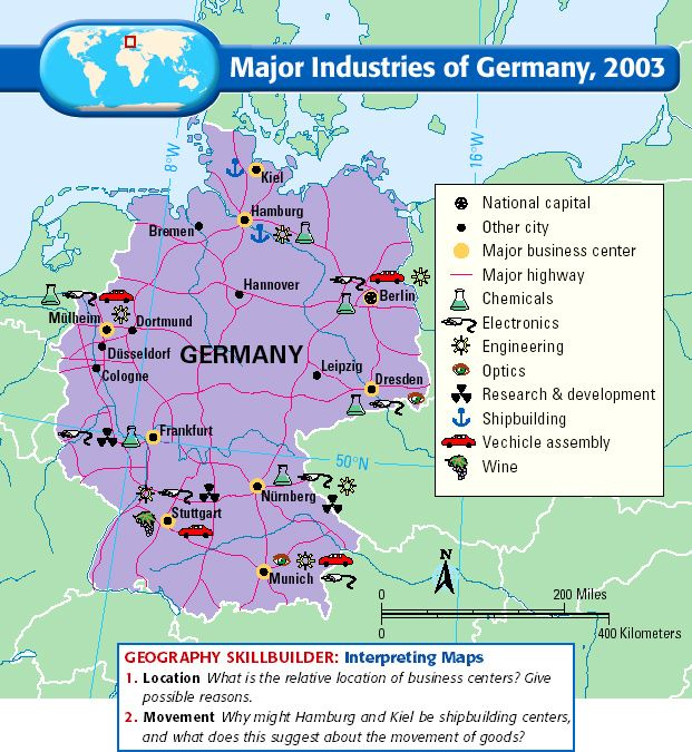Major Industries Germany Modern Germany Pinterest