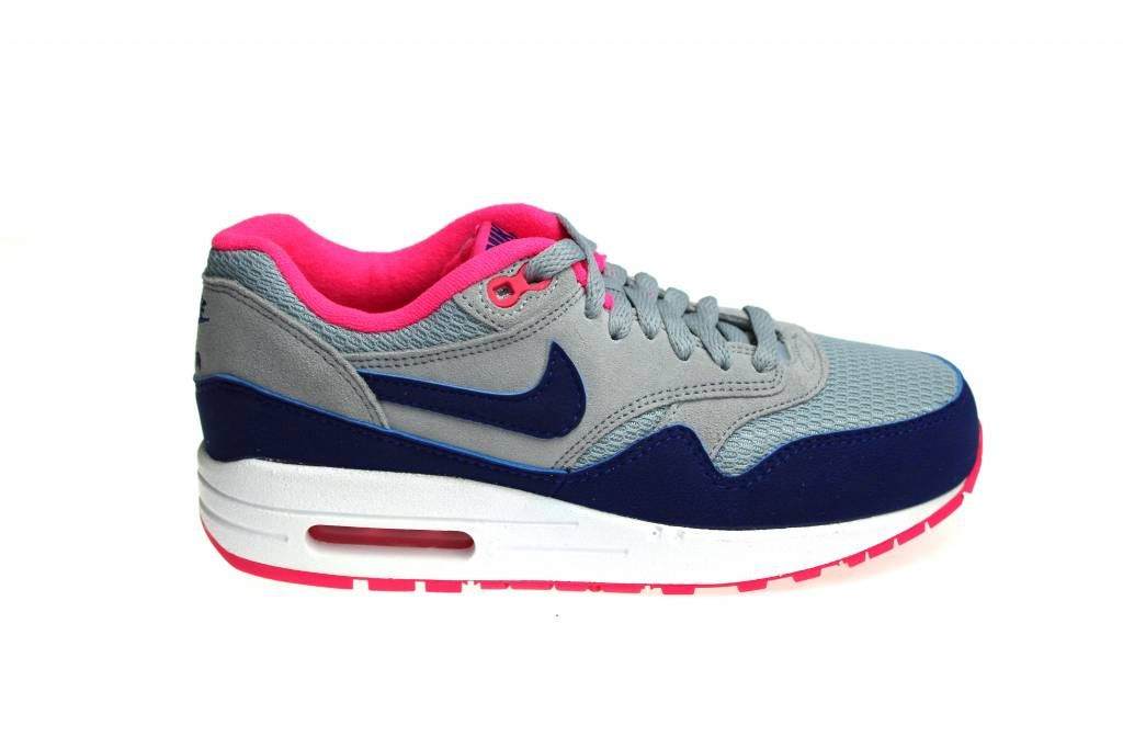 nike air max 1 essential wit blauw