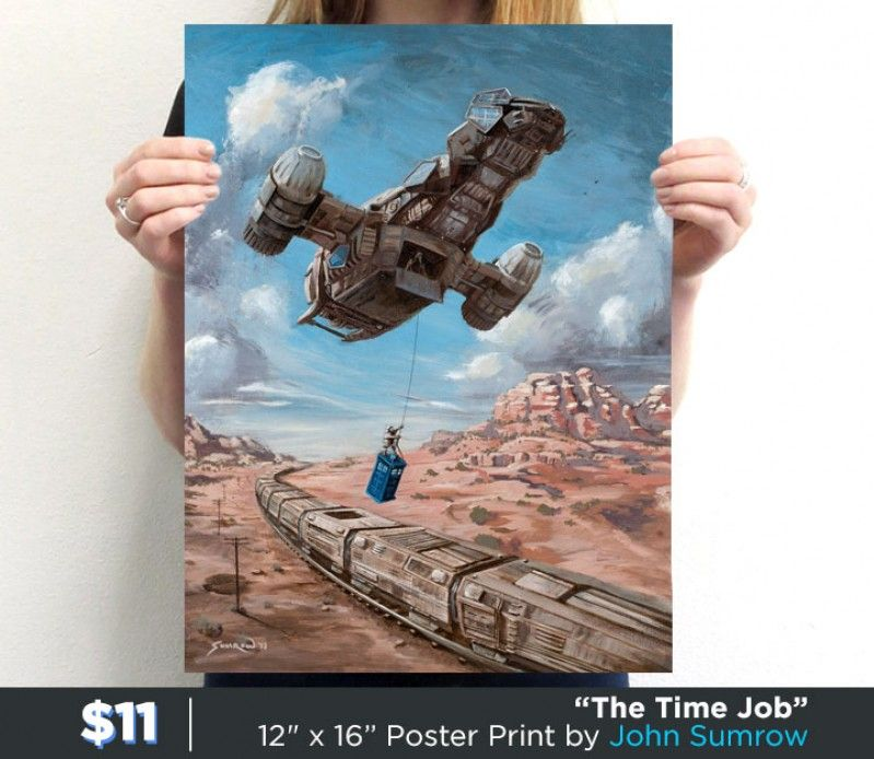 """The Time Job"" by John Sumrow is available now. Get yours here: http://www.teefury.com/the-time-job-1/?utm_source=pinterest&utm_medium=referral&utm_content=thetimejobposter&utm_campaign=galleryinfocus?&c3ch=Social&c3nid=Pinterest"