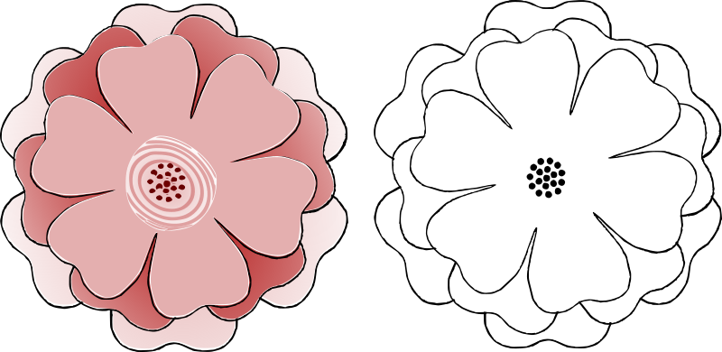 rose cut out template flower multi choice 6 petal s3 template by