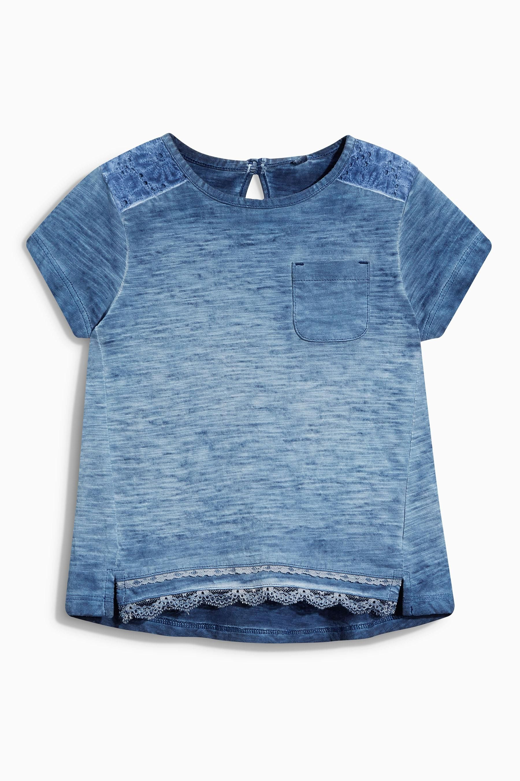 750ec276d1a Buy Navy Lace T-Shirt (3mths-6yrs) from the Next UK online shop ...
