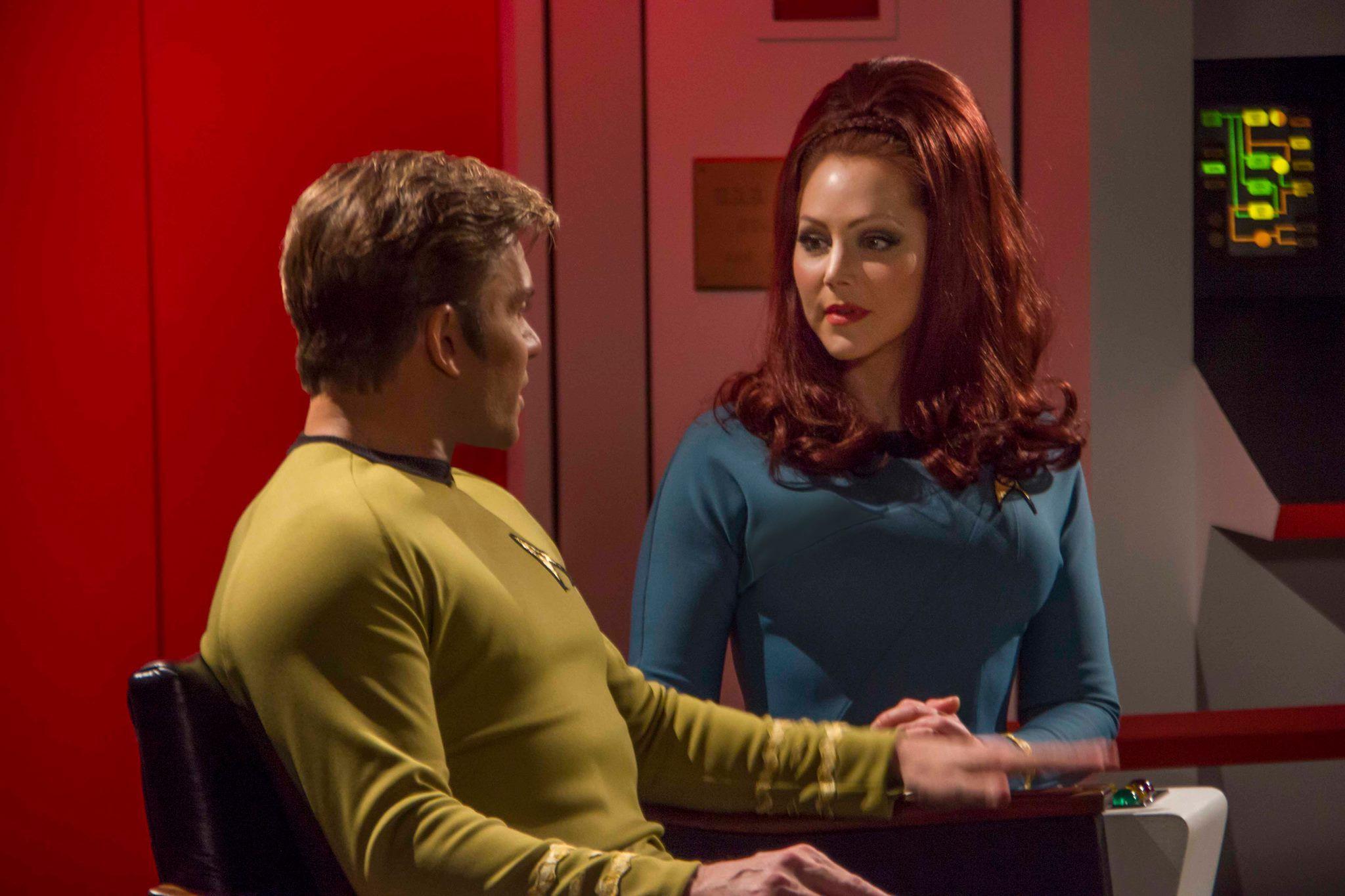 Captain Kirk & Dr. McKennah (Vic Mignogna & Michele Specht), Star Trek Continues https://www.facebook.com/StarTrekContinues