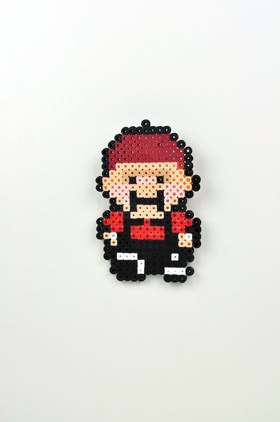 Perler Bead Magnet Super Nintendo Earthbound Apple Kid