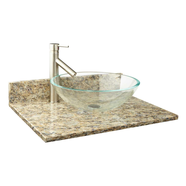 25 X 22 Bamboo Vessel Sink Vanity Top Bathroom With Images