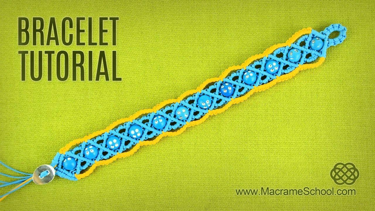 Macramé Summer Bracelet Tutorial by Macrame School