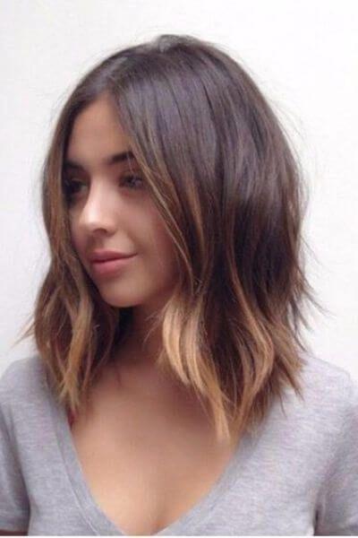 Golden Sombre For Dark Brown Short Hair Hair Color In