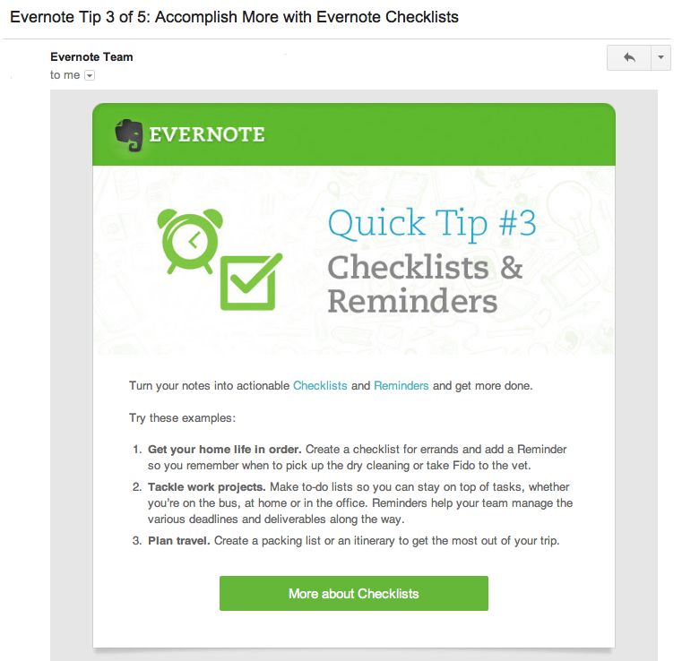 Evernote Onboarding Emails  All Things Modern Marketing