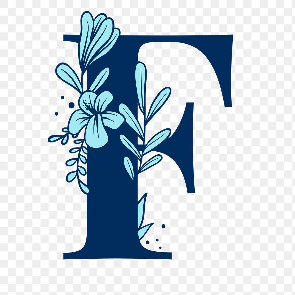 Flower Letter F Png Font Free Image By Rawpixel Com Tvzsu Floral Font Free Illustrations Flower Letters