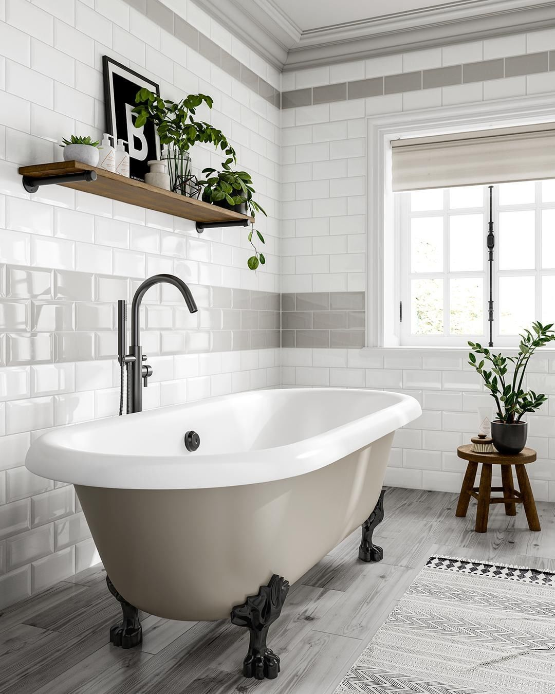 Tile Giant On Instagram Mix Up Our Metro Tile Shades To Add Accent Colours To Your Walls How Would Metro Tiles White Brick Tiles Bathroom White Brick Tiles