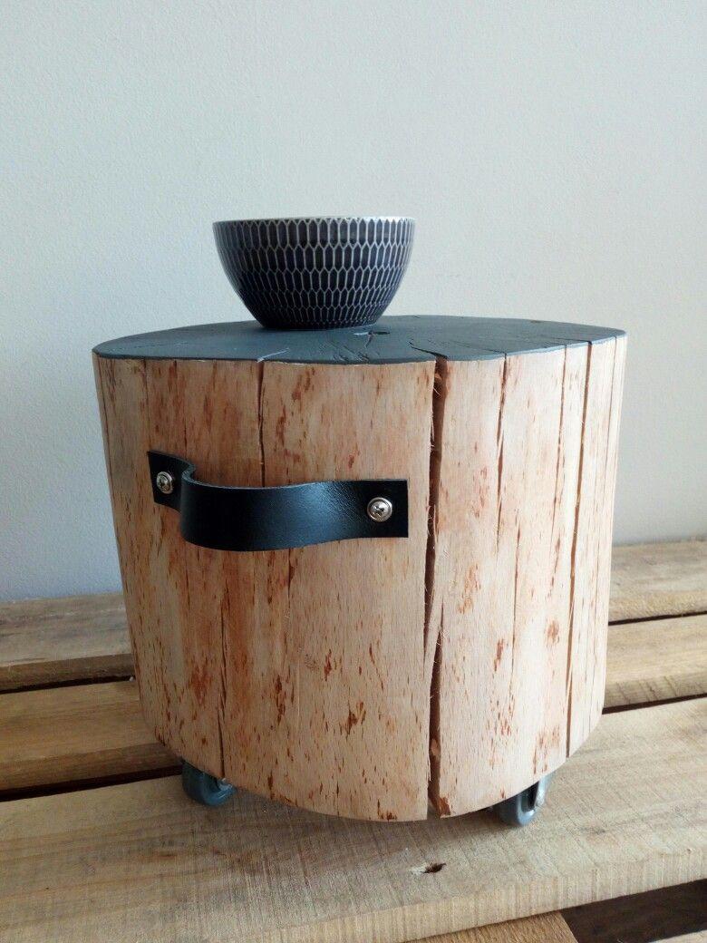 Rondin De Bois Table De Chevet bijzettafeltje #waarikvanhout | deco | deco bois, mobilier