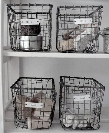 Ijzeren mandjes - Huis, meubelen & deco | Pinterest - Badkamer ...