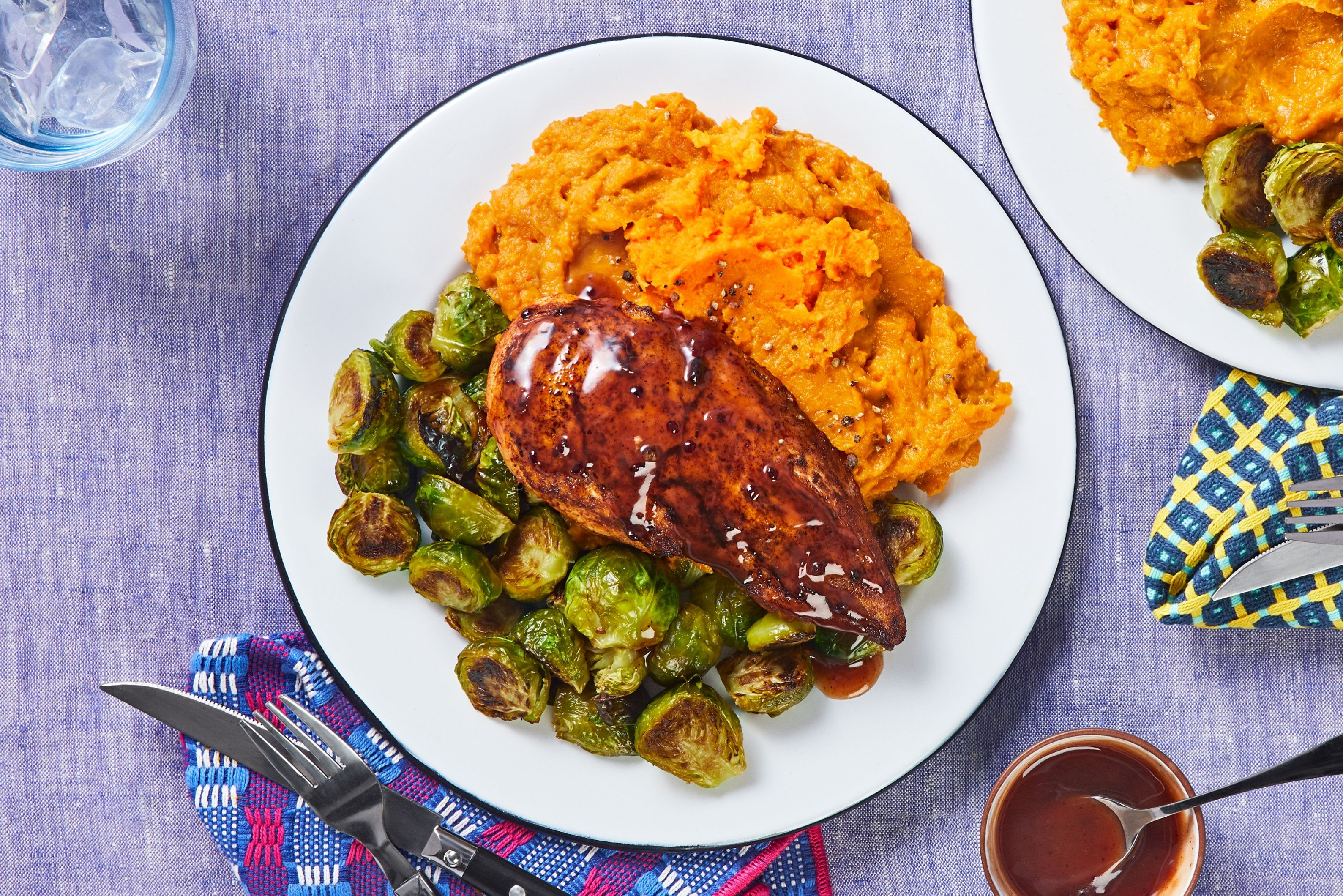 Baked Chicken And Sweet Potato Mashed Potatoes Recipe Hellofresh Recipe Hello Fresh Recipes Mashed Sweet Potatoes Baked Chicken