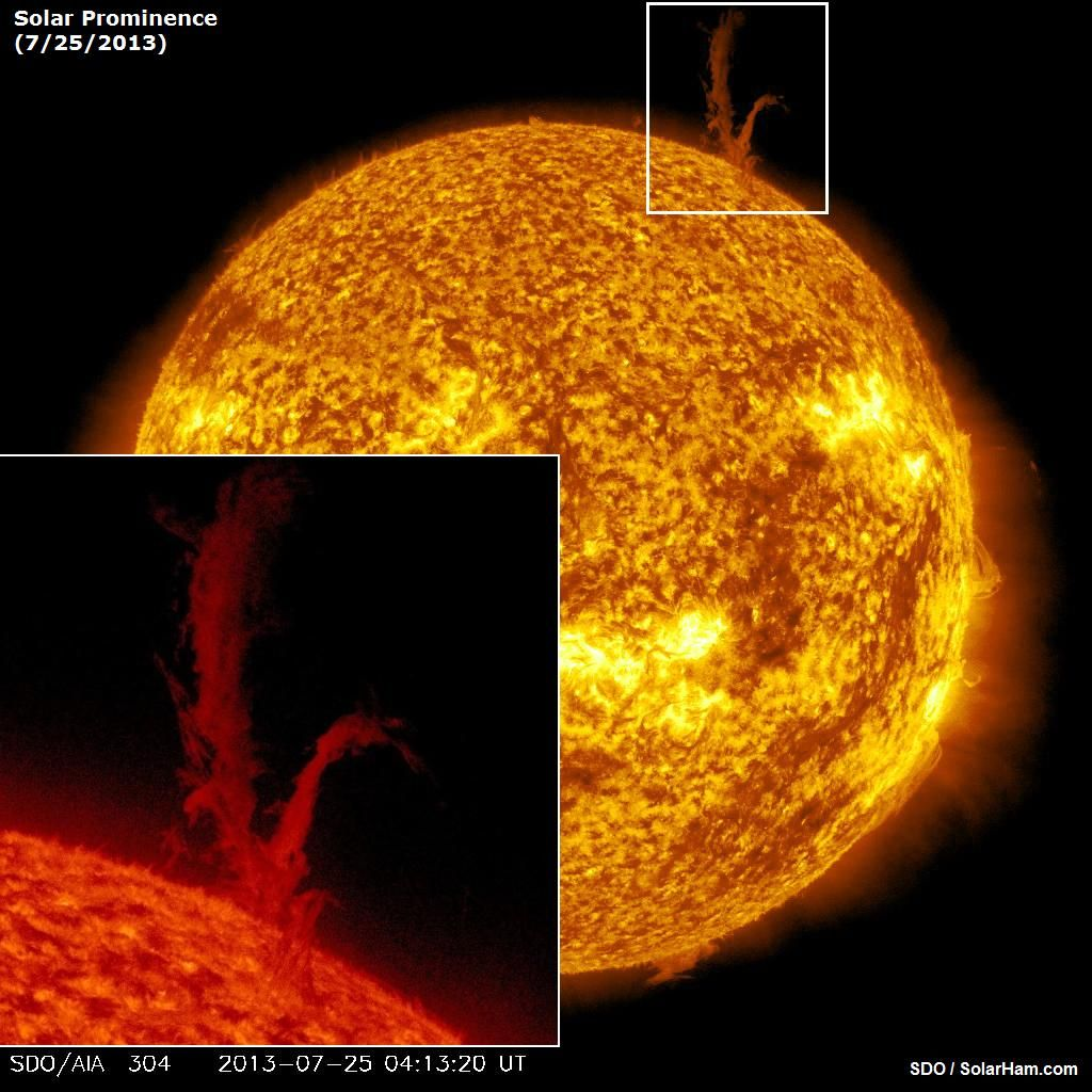 Solar Prominence (Early Thursday) - SDO