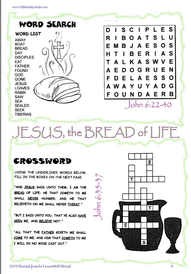 Idea By Vida Kids North On I Am The Bread Of Life Vacation