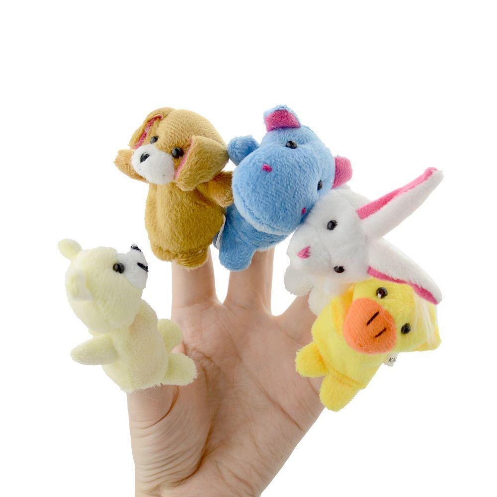 81 Nice 10pcs Lot Cute Animal Hand Puppets Baby Plush Toy Finger Boneka Metoo Panda Puppet Tell