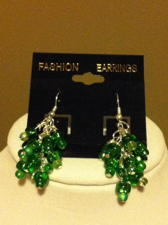 Green cascade earrings  facebook.com/stacie.dertinger
