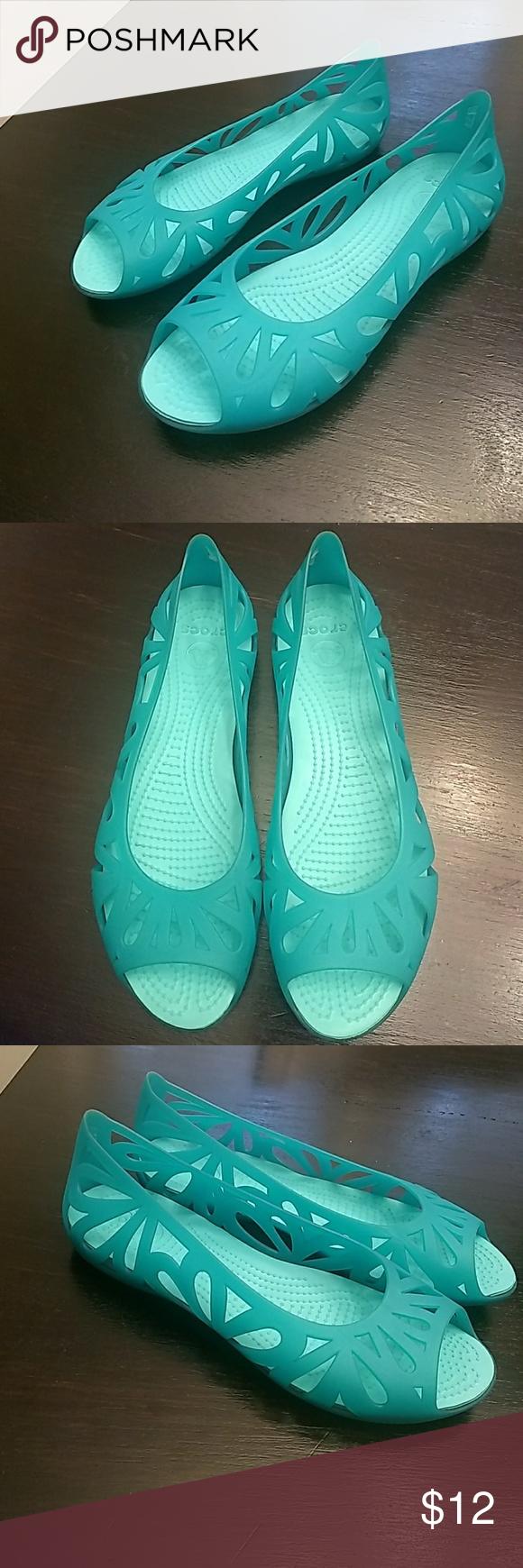 Crocs teal / turquoise flats 10