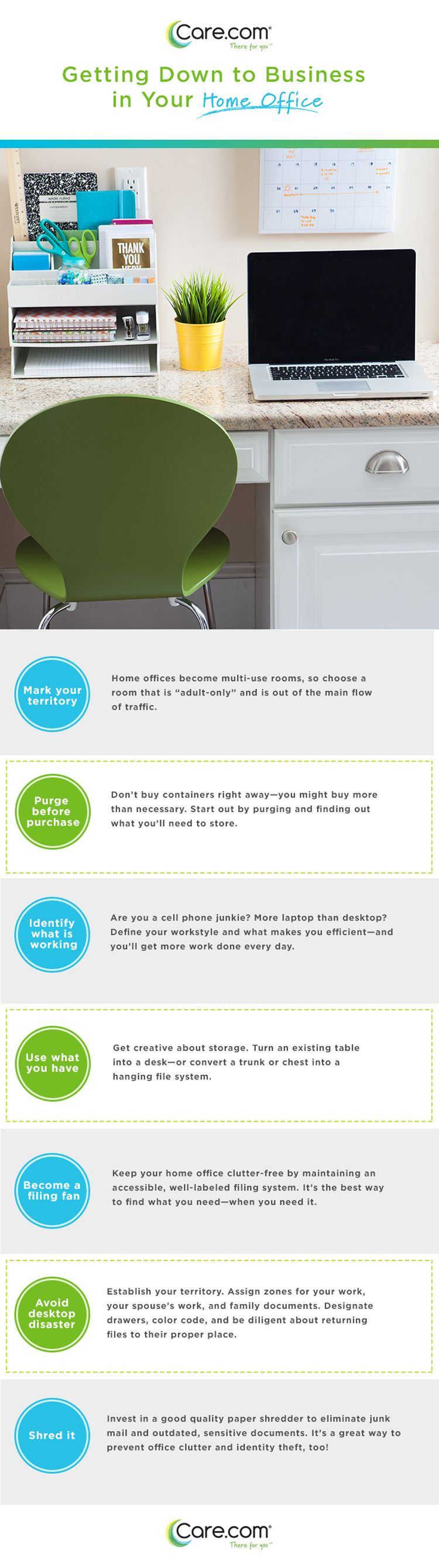 home office organizing tips, clear desk clutter | Clutter ...
