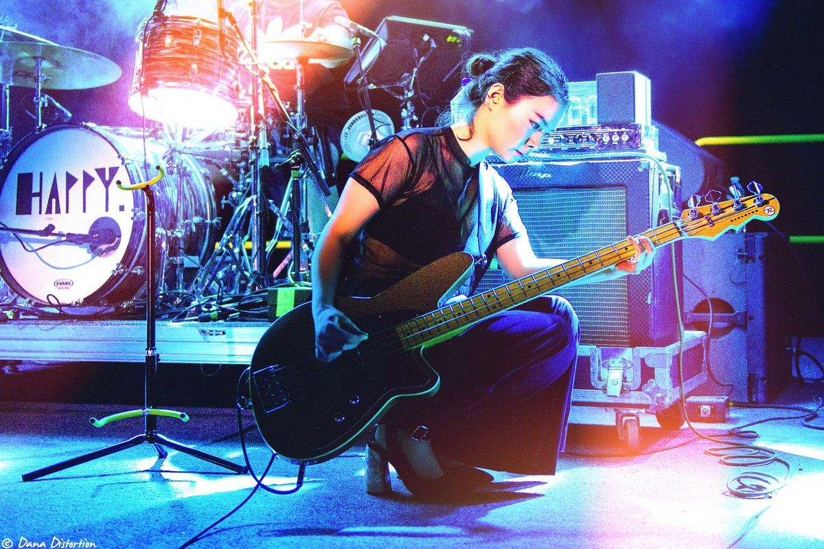 Mitski with her Reverend Justice Bass