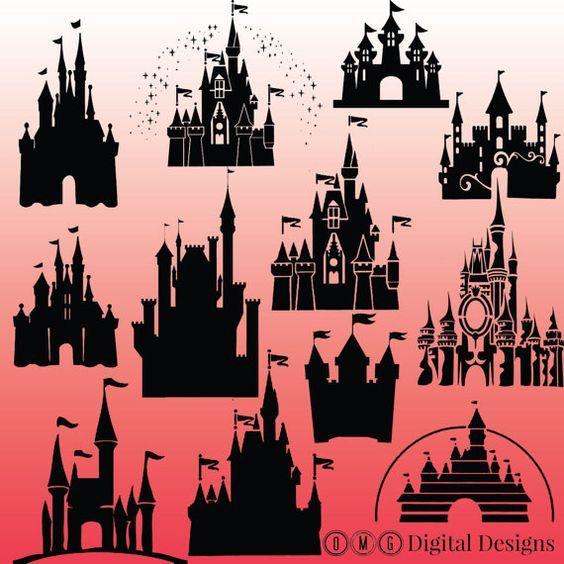 12 cinderella castle silhouette, cinderella castle ...