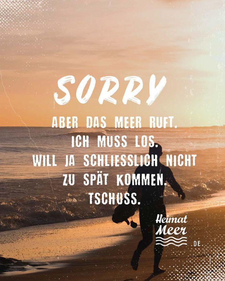 Sorry, aber das MEER ruft. Ich muss los. Will ja schließlich nicht zu spät kom... - #aber #das #Ich #ja #kom #Los #Meer #muss #nicht #ruft #schließlich #spät #zu