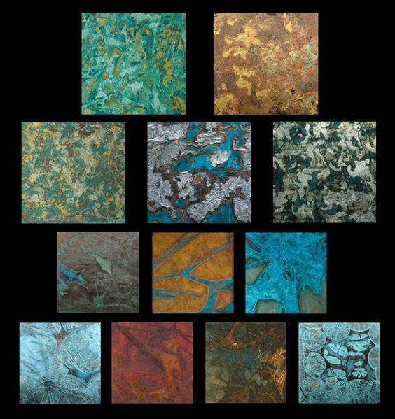 Patina Aluminium Accent Wall Ideas: Traditional Patinas Using The Wrap Technique Over Copper