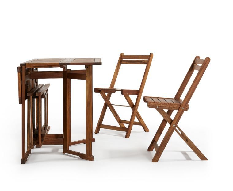 Ensemble De Table Et 4 Chaises Pliables En Bois Garden Chaise