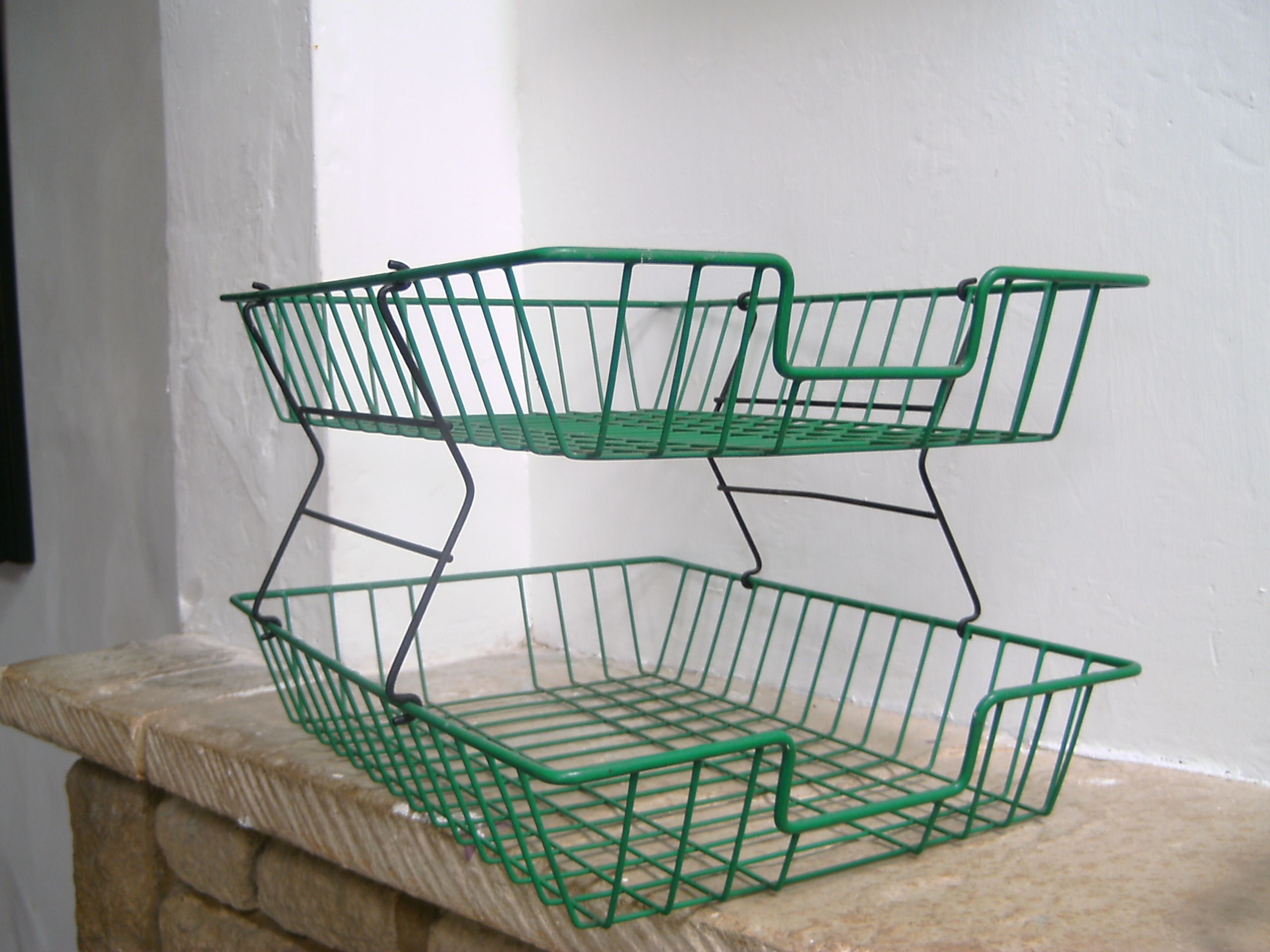 This Standing Wire Basket Is Screamin Farmhouse I Love It