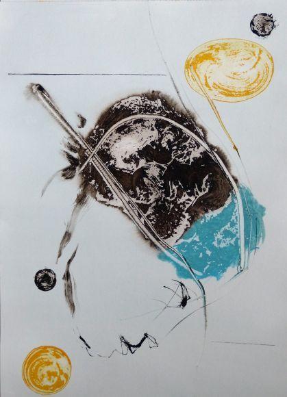 Introspectus #14 , Acrylic on paper A3