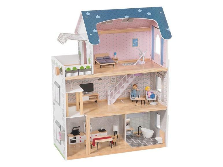 Houten poppenhuis  Maison de poupée en bois, Maison de poupée